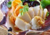 Salade de Saint-Jacques, sauce Yuzu Ponzu