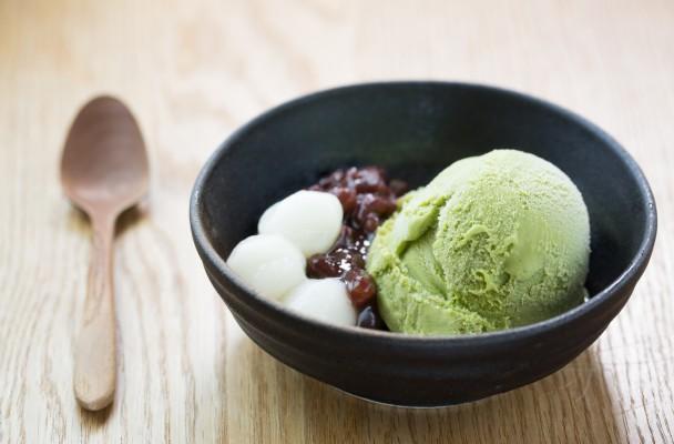 Crème glacée au thé matcha