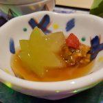 Melon d'hiver, baie de Goji, miso de bœuf de Matsusaka