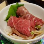 Sashimi de boeuf Matsusaka
