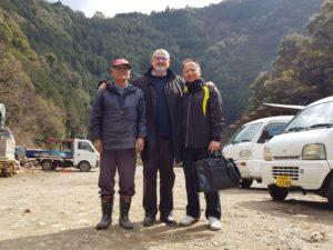 Nishikidôri - Visite de l'exploitation de Tosa Binchotan chez Moritmoto San, notre fournisseur.
